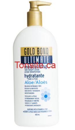 goldbond - Lotion hydratante Gold Bond gratuit après coupon!