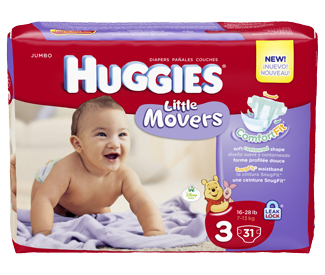 huggies - Emballage de couches Huggies Movers ou Little Snugglers ou HUGGIES Overnites à 6$