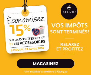 keurig 15 - Offre Keurig: Obtenez un rabais de 15% sur les dosettes K-Cup et les accessoires!