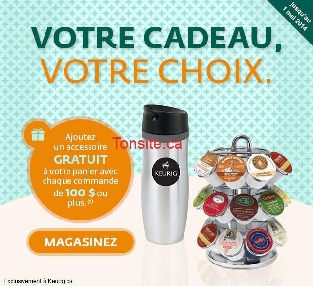 keurig acc - Keurig: Choisissez votre cadeau GRATUIT avec tout achat de 100 $ ou plus + livraison gratuite!
