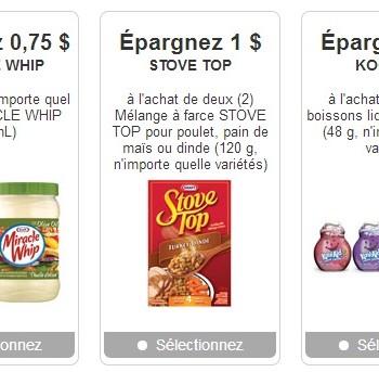 kraft coupons 350x343 - Nouveaux coupons rabais cachés Kraft!