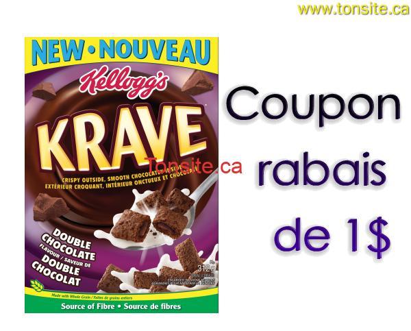 krave1 - Coupon rabais caché de 1$ sur n'importe quelle boîte de céréales Kellogg's Krave (312 g- 323 g)