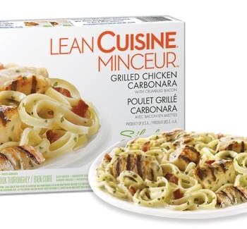 lean cuisine minceur 350x325 - Coupon rabais de 1$ sur le repas surgelé Lean Cuisine Minceur poulet grillé Carbonara!
