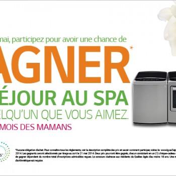 lg concours 350x350 - Concours LG: Gagnez un séjour au Spa pour quelqu'un que vous aimez!