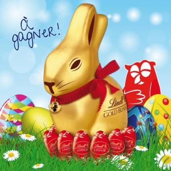 lindt couchetard 350x350 - Concours Couche-Tard: Gagnez un des 2 géants lapins or Lindt en chocolat d'un Kilo