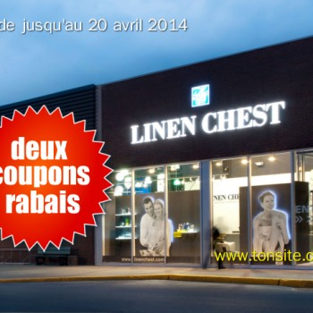 linen chest 350x350 - Nouveaux coupons rabais Linen Chest!