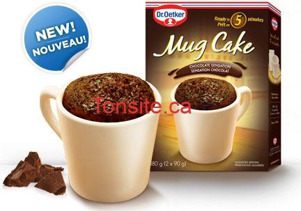 mug cake - GRATUIT: Obtenez un coupon de gratuit pour un Mug Cake de Dr.Oetker!