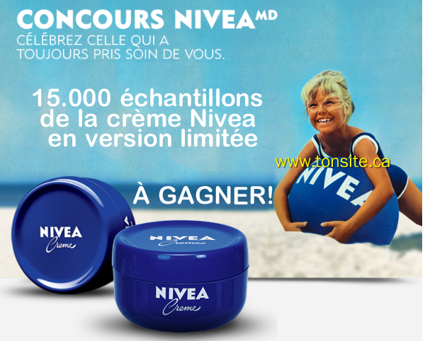 niveaconcours - Concours Nivea: Gagnez 1 des 15000 échantillons de la crème Nivea en version limitée!