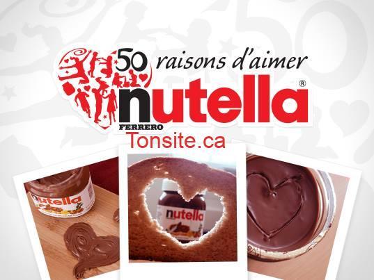 nutella 1 - Concours Nutella: Participez et gagnez du Nutella!