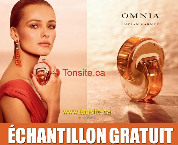 omnina indian garnet - GRATUIT: Obtenez un échantillon gratuit du nouveau parfum Omnia Indian Garnet de Bvlgari!