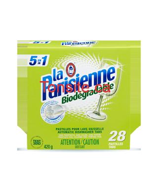 pastilles 28 - Emballage de 28 pastilles pour lave-vaisselle Laparisienne à 3,99$ après coupon!
