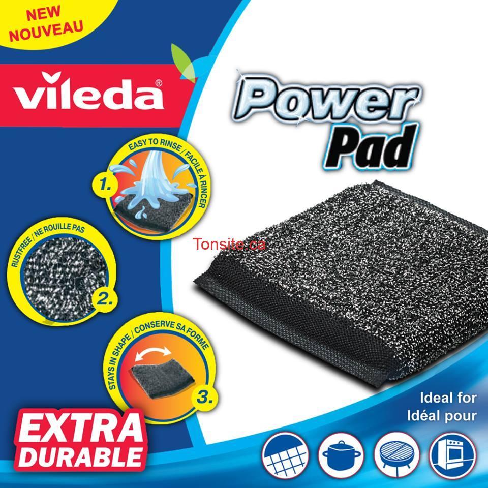 power pad - Concours Vileda: Gagnez un paquet de 2 récureurs Power Pad!