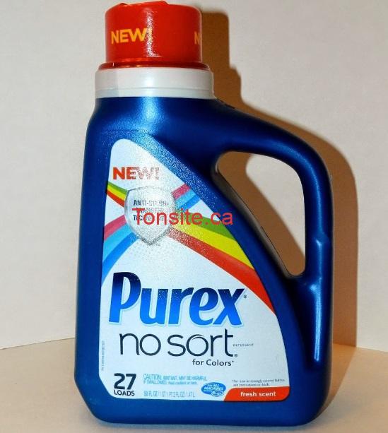purex no sort - Coupon rabais de 1,50$ sur le détergent à lessive Purex No Sort liquide!