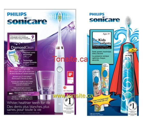 sonicare - 2 coupons rabais d'une valeur de 25$ sur les brosses à dents Philips!