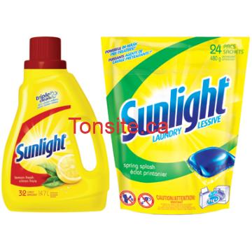sunlight - Détergent à lessive liquide Sunlight à 1,94$ après coupon!