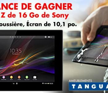 tanguay xperia 350x300 - Concours Ameublements Tanguay: Gagnez une tablette Xperia Z de 16 Go De Sony (valeur de 499,99$)