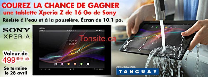 tanguay xperia - Concours Ameublements Tanguay: Gagnez une tablette Xperia Z de 16 Go De Sony (valeur de 499,99$)