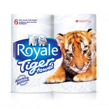 tiger towel 350x350 - 6 rouleaux d'essuie-tout Royale Tiger à 1.99$ après coupon!