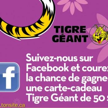 tigregeant concours1 350x350 - Concours Tigre Géant: Inscrivez-vous et gagner 1 des 20 cartes-cadeaux de 50$!