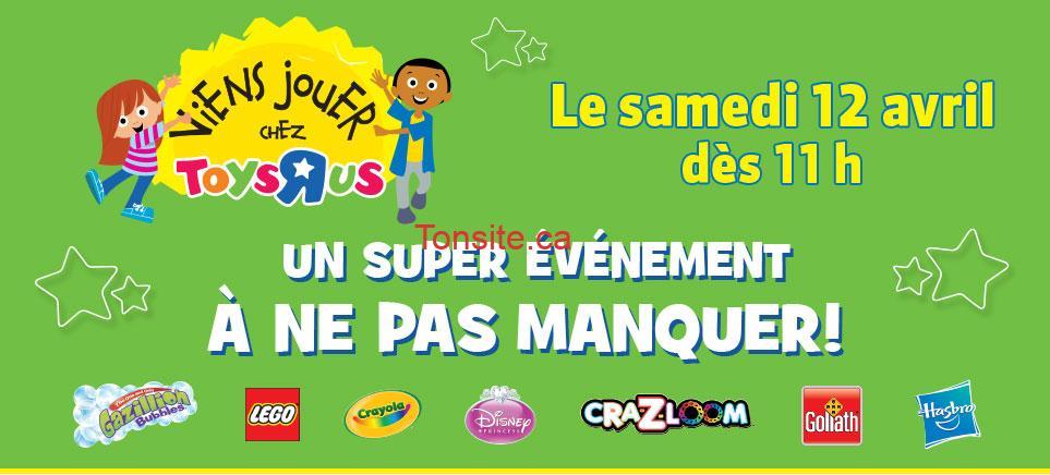 """toys rus 12 avril - Activités pour enfants amusantes et gratuites chez Toys""""R""""Us le samedi 12 avril 2014 dès 11h!"""