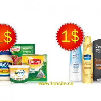 unilever jpg 350x350 - 2 coupons rabais sur les produits Unilever échangeables chez Walmart!