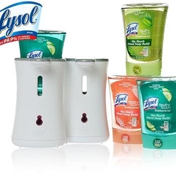 LysolNo Touch 350x350 - Coupon rabais de 1$ sur les savons à main Lysol!