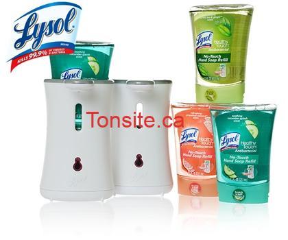 LysolNo Touch - Coupon rabais de 1$ sur les savons à main Lysol!