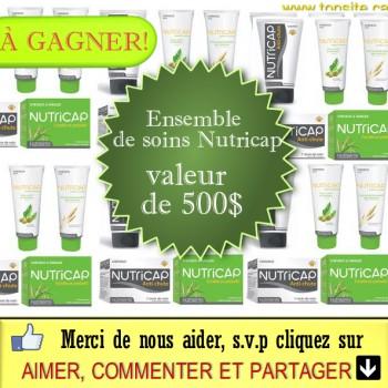 NUTRICAP JPG 350x350 - Concours Châtelaine: Gagnez un ensemble de soins Nutricap (valeur de 500$)!