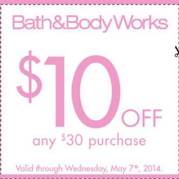 bath1 350x350 - Bath & Body Works: Coupon rabais de 10$ sur tout achat de 30$ ou plus!