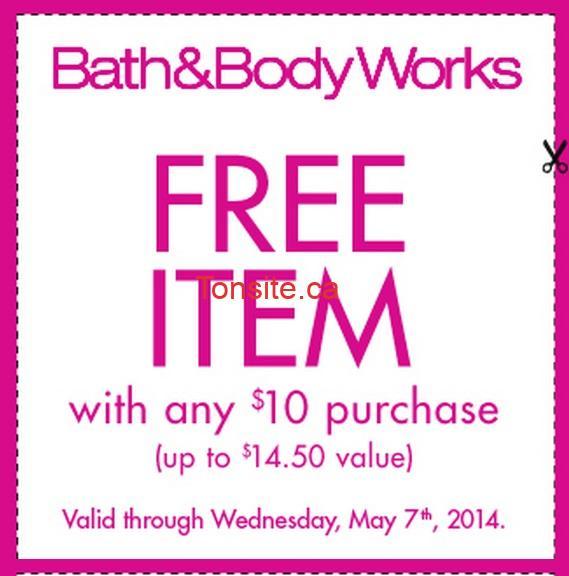 bath2 - Bath & Body Works: Obtenez un produit gratuit (valeur de 14,50$) sur tout achat de 10$!