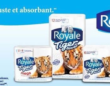 essuit tous royal 350x275 - Nouveau coupon rabais de 2$ sur les essuie-tout Royal Tiger!