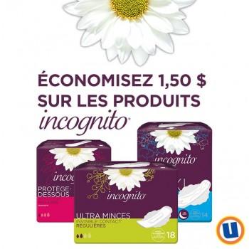 incognito 350x350 - Uniprix: Coupon rabais de 1,50$ sur n'importe quel produit Incognito!