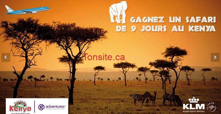 klm - Concours KLM Canada: Gagnez un voyage pour 2 personnes au Kenya (valeur de 8000$)!