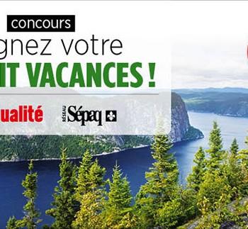 lactualite concours 350x323 - Concours L'actualité: Gagnez 1 des 16 forfaits vacances!