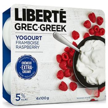 liberte grek 350x350 - Coupon rabais de 1$ sur tous les yogourts Liberté Grec (format de 4x100g, 8x100g, 500g, 750g et 1,75kg)!