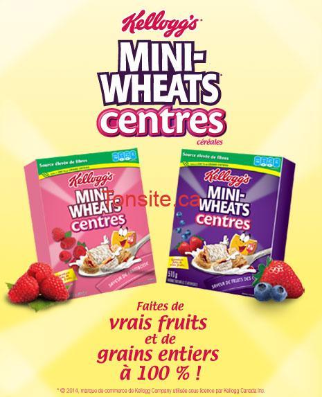mini whats - Coupon rabais de 1$ sur une boîte de céréales Mini-Wheats Centres!