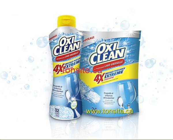 oxi clean vaisselle - Détergent pour lave vaisselle ou agent de rinçage Oxi Clean à 3.99$ après coupon!