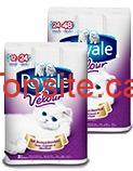 280 produit frvcoupon royale velour - 8 rouleaux doubles du papier hygiénique Royale Velour  49¢ après coupon!