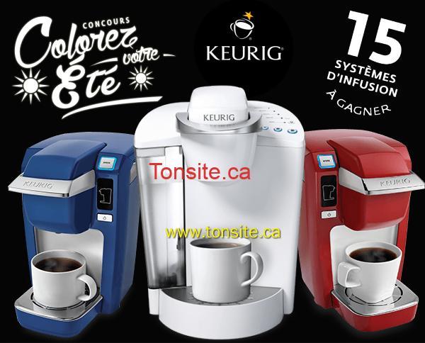 KEURIG CONCOURS - Concours Keurig: Gagnez 1 des 15 cafetières  Keurig