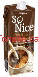 So nice café - Boisson de soya So Nice (500ml) à 49¢ seulement (aprés coupon)!