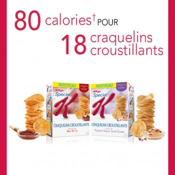 Special K free box of kelloggs chips fr 350x350 - Nouveau coupon rabais de 1$ sur Craquelins croustillants Spécial K(113 g) ou de Croustilles de maïs soufflé Spécial K (127 g)!