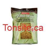 Time Wise Whole grain - Coupon rabais de 1$ sur le riz Dainty!