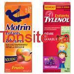 Tylenol Motrin 150 FR - Coupon rabais de 4,50$ sur 2 produits TYLENOL ou MOTRIN pour nourrissons ou pour enfants