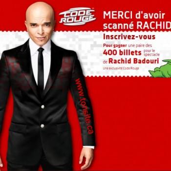 badouri concours 350x350 - Concours Code Rouge Média: Gagnez un des 200 billets en paire pour le spectacle de Rachid Badouri!