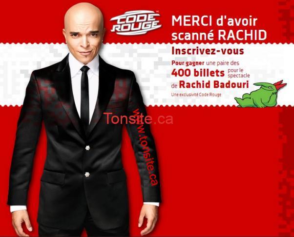 badouri concours - Concours Code Rouge Média: Gagnez un des 200 billets en paire pour le spectacle de Rachid Badouri!