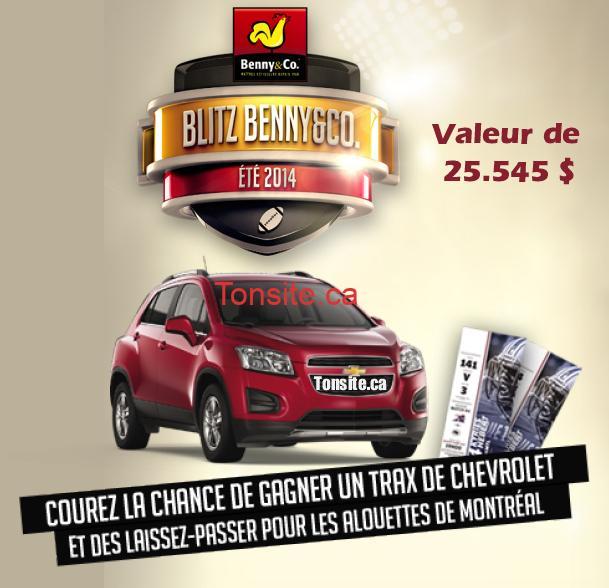 benny - Concours Benny&Co: Gagnez un Chevrolet Trax 1LT à TA 2014 (valeur de 25 545 $ CA)!