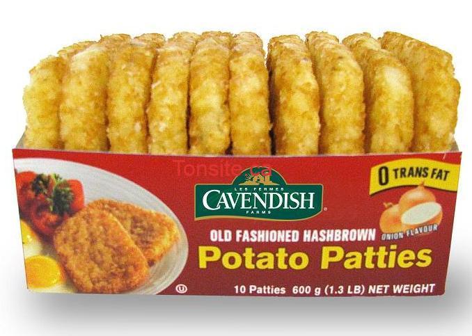 galettesgavendish - Galettes surgelées de pomme de terre (600g) de Gavendish à 1.75$ apres coupon!