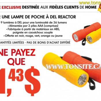 homehardware del reactor 350x350 - Home Hardware: Lampe de poche à Del Reactor à 1,43$ seulement après coupon!