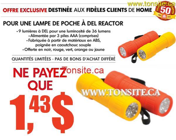 homehardware del reactor - Home Hardware: Lampe de poche à Del Reactor à 1,43$ seulement après coupon!