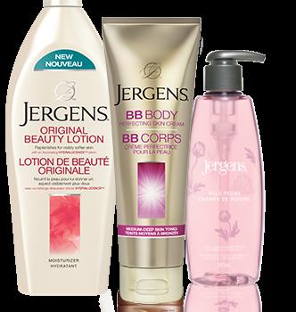 jergens coupon rabais 332x350 - Coupon rabais de 1$ sur les lotions hydratantes de  Jergens!